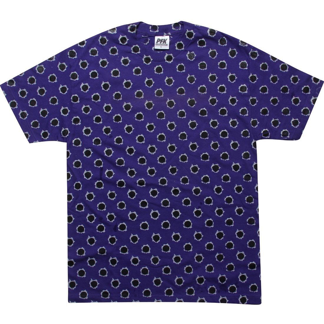 ブレット Tシャツ メンズファッション トップス カットソー メンズ 【 Playing For Keeps Bullet Holes Tee (purple) 】 Purple