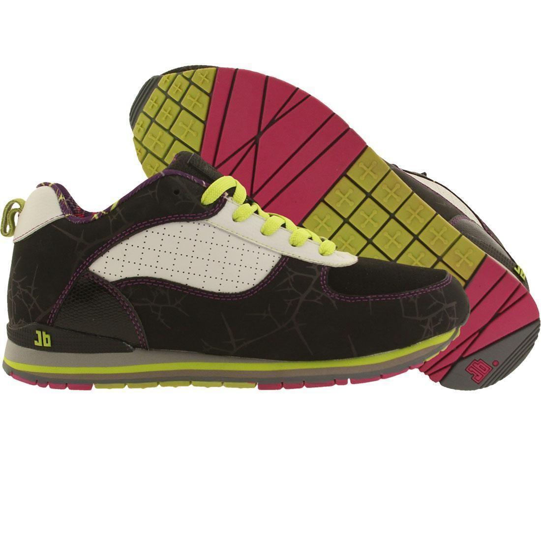 【海外限定】黒 ブラック 白 ホワイト メンズ靴 スニーカー 【 BLACK WHITE JB CLASSICS SUB40 THORNS FOSSILS MAGENTA 】