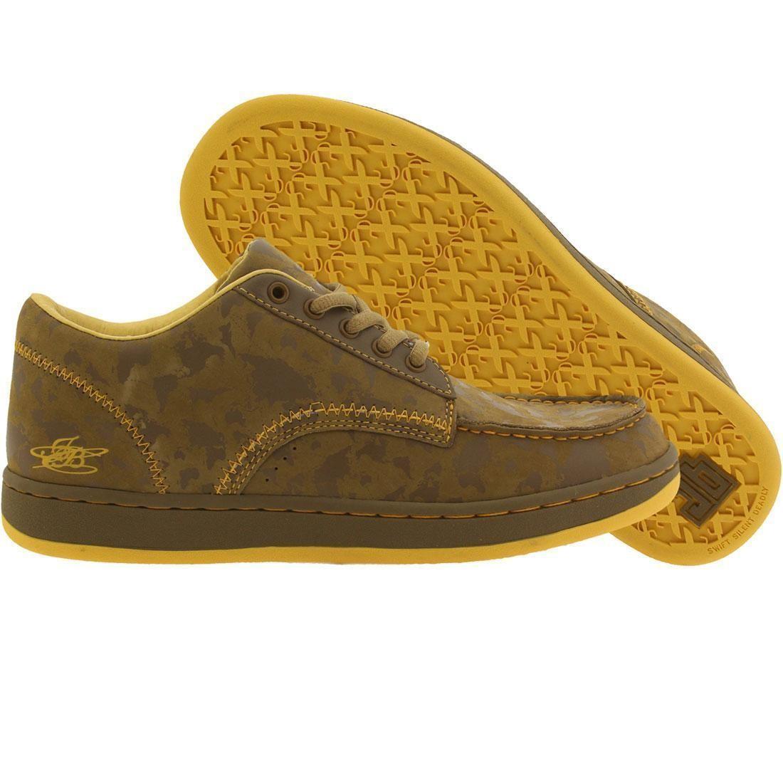 【海外限定】スニーカー 靴 【 JB CLASSICS SDM LOW GLOBES BROWN YELLOW 】