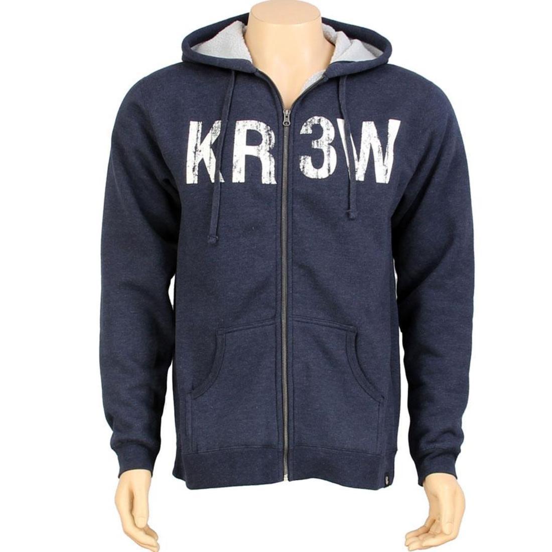 【海外限定】フリース フーディー パーカー メンズファッション 【 KR3W SEED SHERPA ZIP FLEECE HOODY NAVY 】