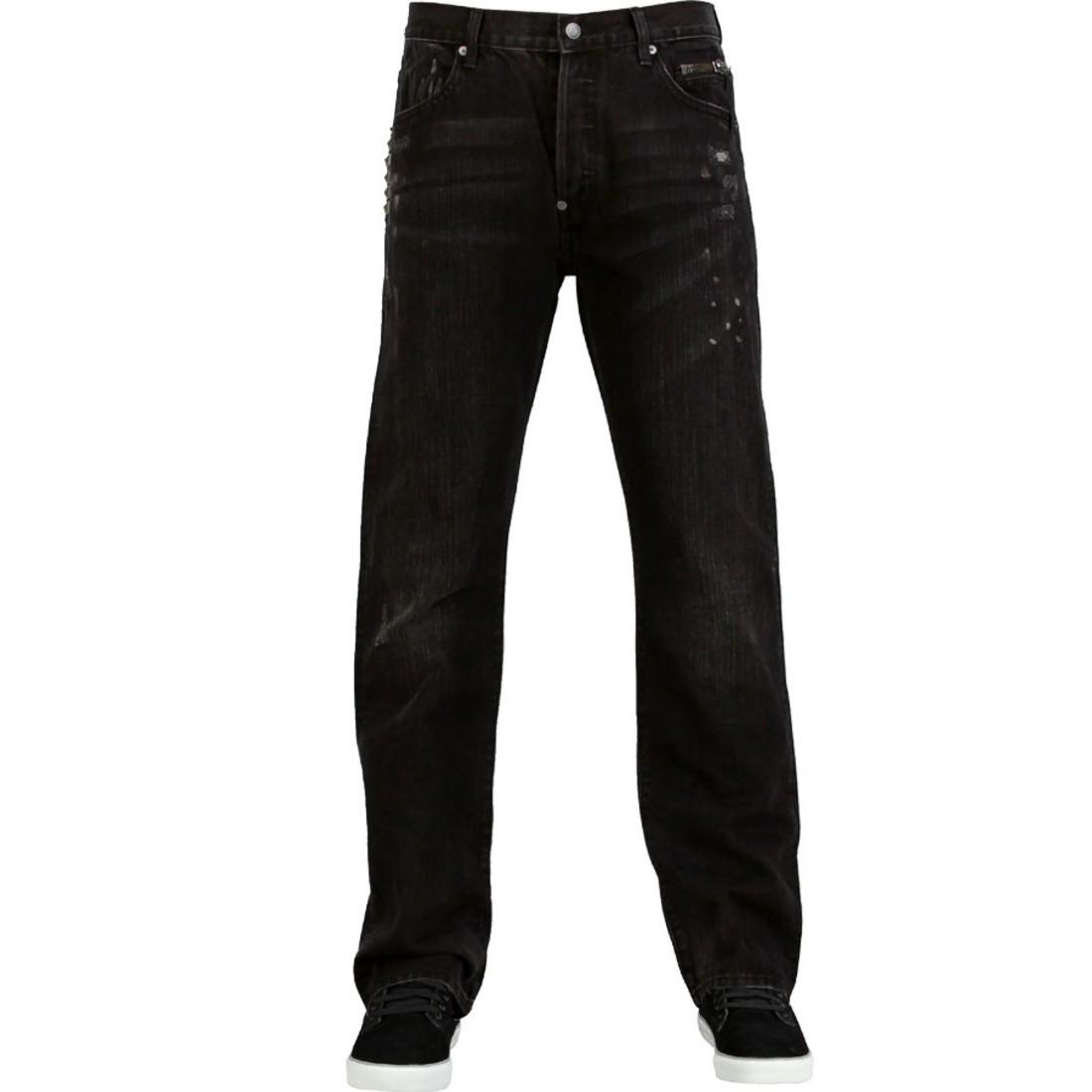 【海外限定】メタル デニム スニーカー メンズ靴 【 THE HUNDREDS HEAVY METAL DENIM JEAN BLACK 】