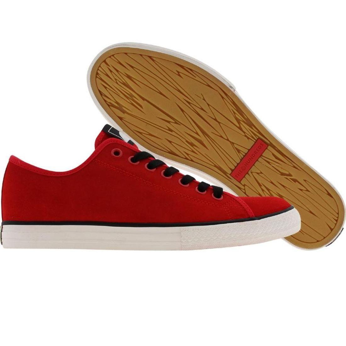 【海外限定】スニーカー メンズ靴 【 THE HUNDREDS VALENZUELA LOW RED 】