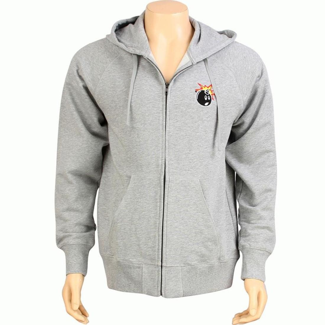 【海外限定】フーディー パーカー トップス 【 THE HUNDREDS SIDE ZIP UP HOODY ATHLETIC HEATHER 】