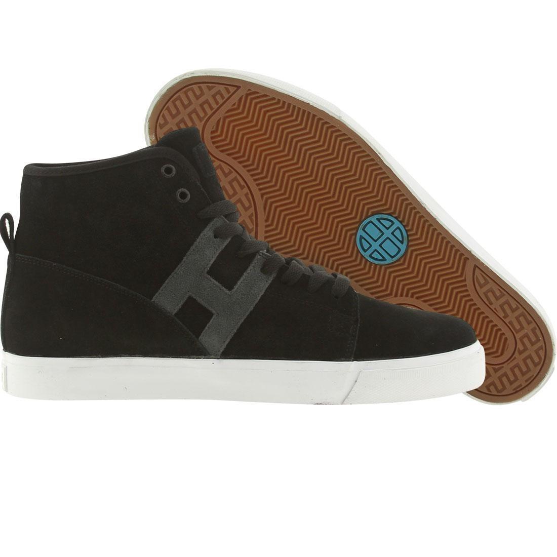 【海外限定】ハフ スエード スウェード メンズ靴 スニーカー 【 HUF HUPPER SUEDE BLACK GREY 】