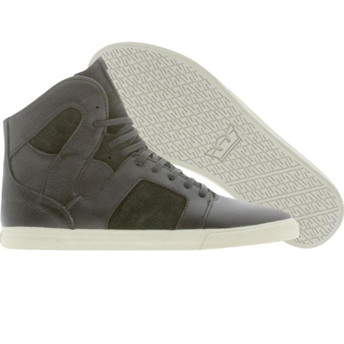 【海外限定】スープラ GRAY灰色 グレイ 靴 メンズ靴 【 SUPRA GREY PILOT NS BLACK FULLGRAIN 】