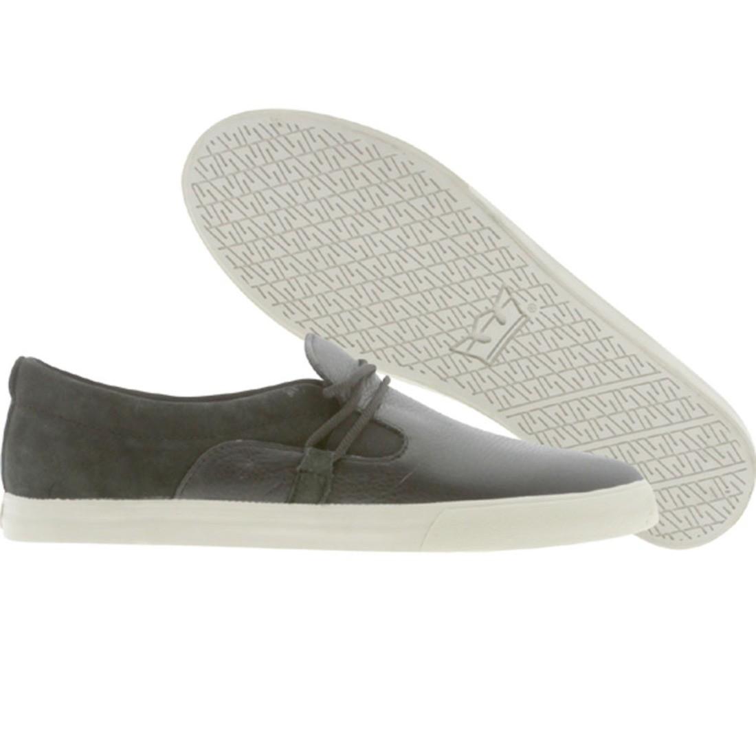 【海外限定】スープラ GRAY灰色 グレイ スニーカー 靴 【 SUPRA GREY BELAY NS BLACK FULLGRAIN 】