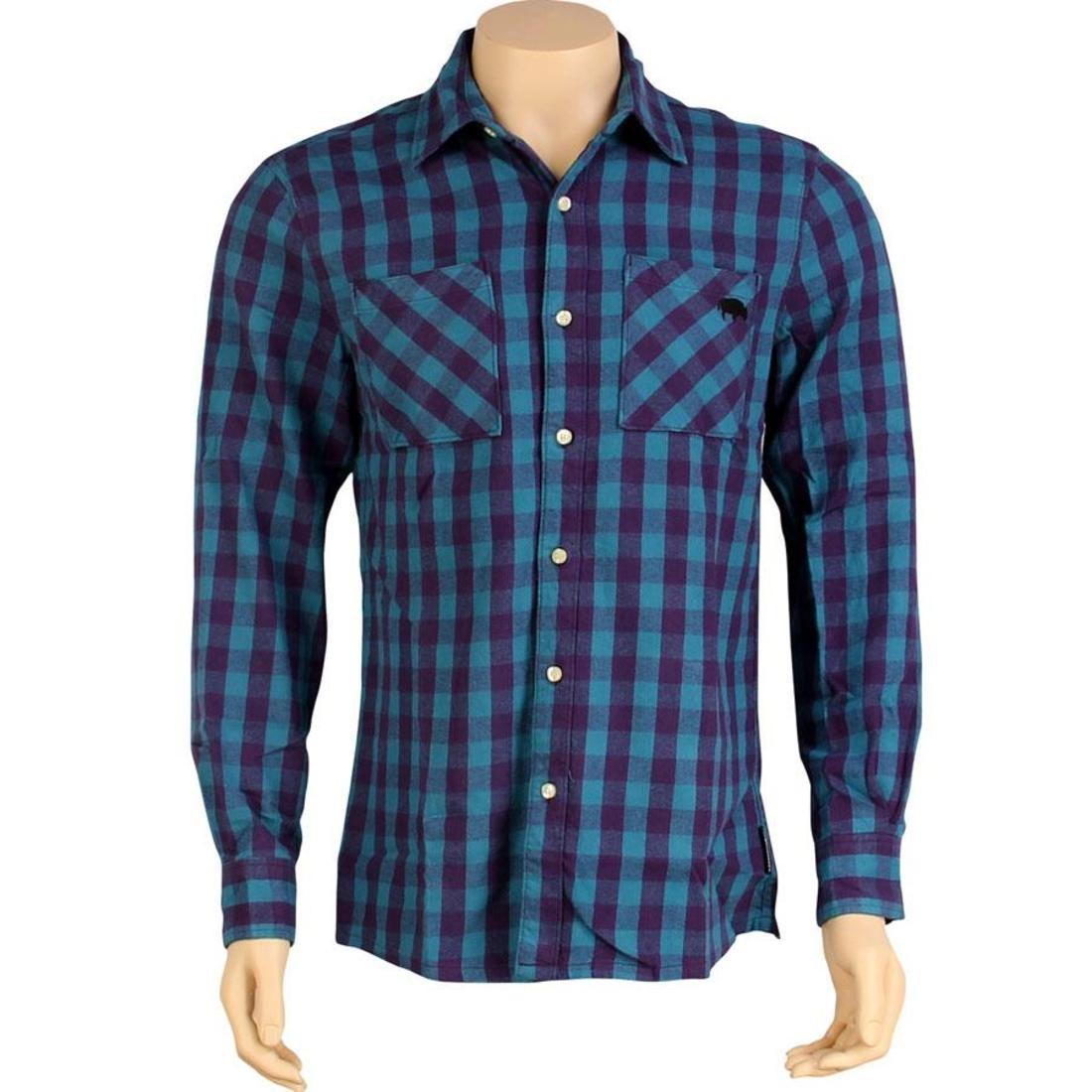 【海外限定】バッファロー カジュアルシャツ メンズファッション 【 THE HUNDREDS BUFFALO FLANNEL SHIRT BLUE 】