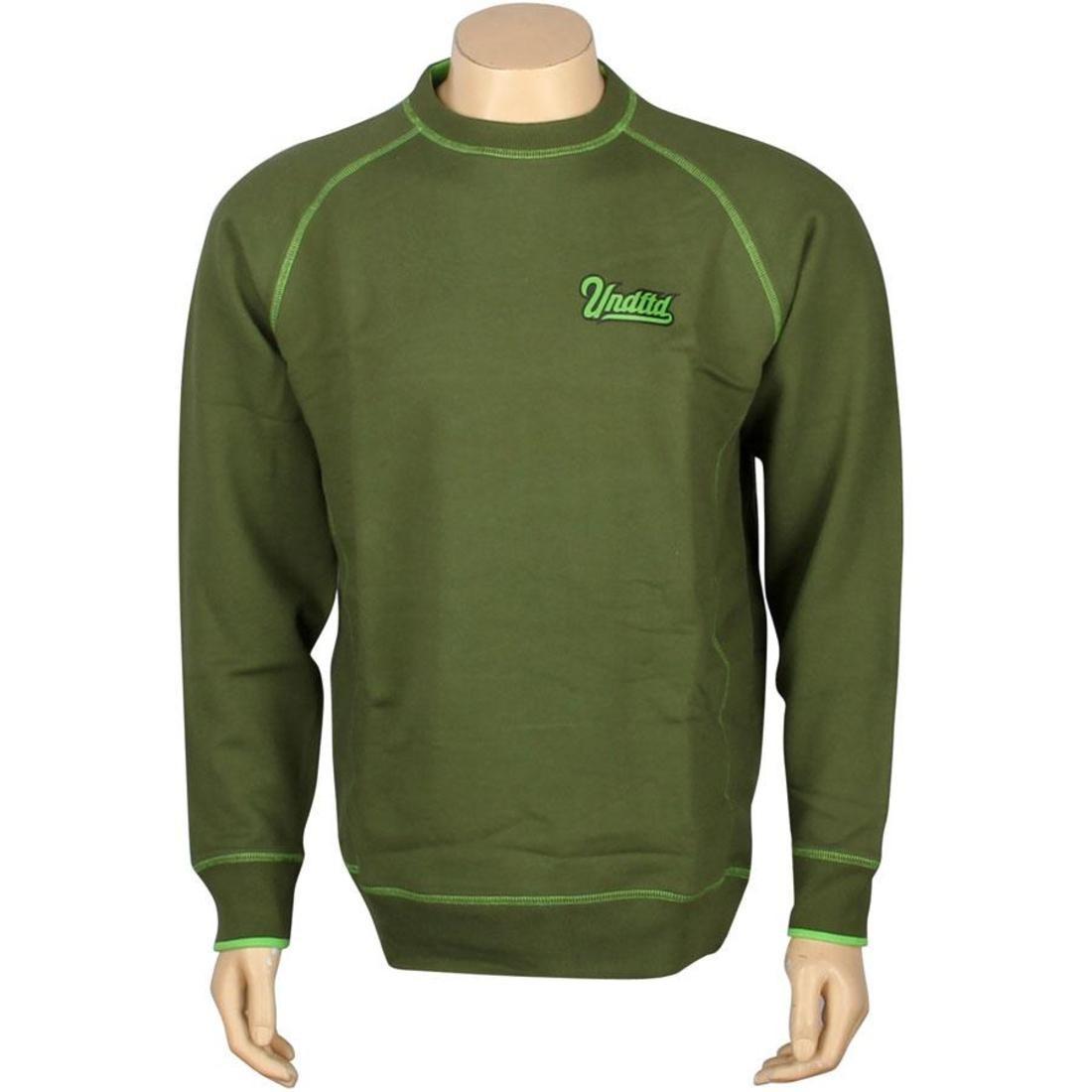 UNDEFEATED スクリプト ラグラン メンズファッション トップス Tシャツ カットソー メンズ 【 Script Raglan Crew (olive) 】 Olive