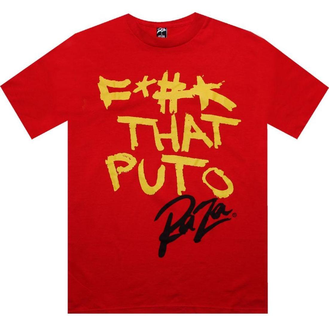 【海外限定】Tシャツ メンズファッション 【 RAZA F THAT PUTO TEE RED 】