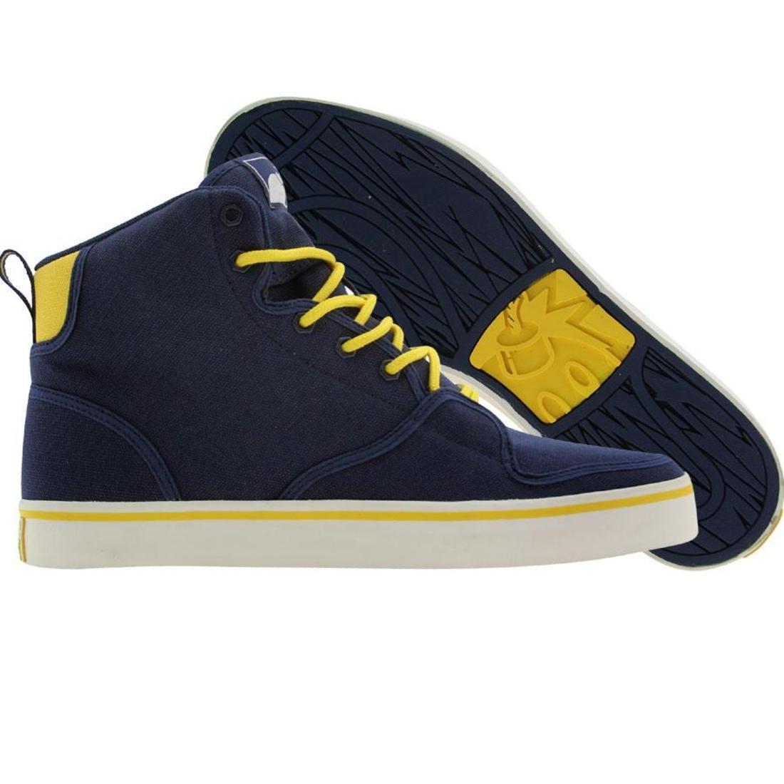 【海外限定】ハイ メンズ靴 スニーカー 【 THE HUNDREDS RILEY HIGH NAVY 】