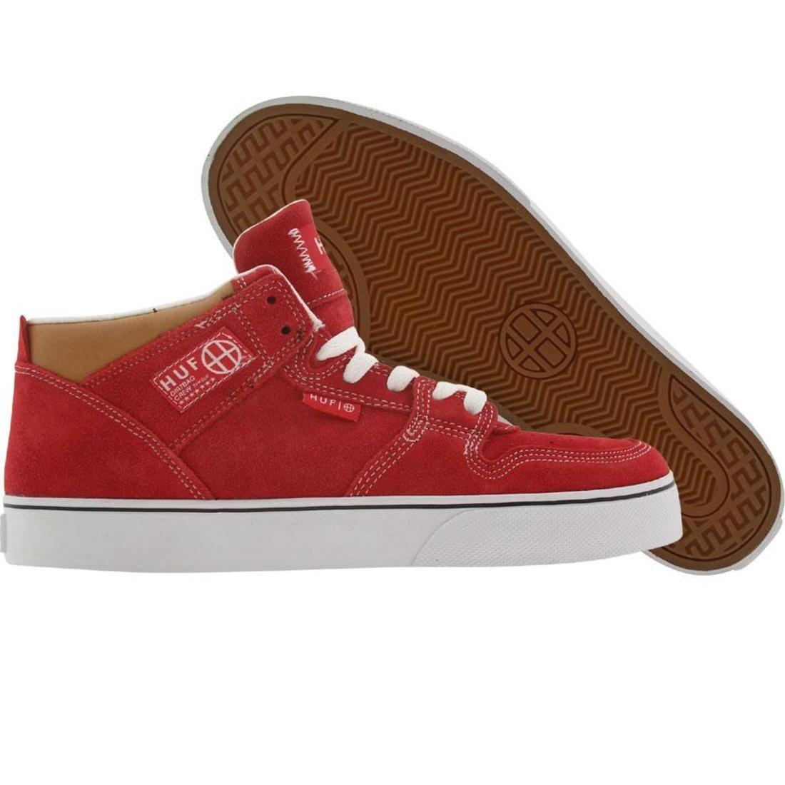 【海外限定】ハフ 白 ホワイト メンズ靴 靴 【 HUF WHITE 1 VULC RED TAN 】