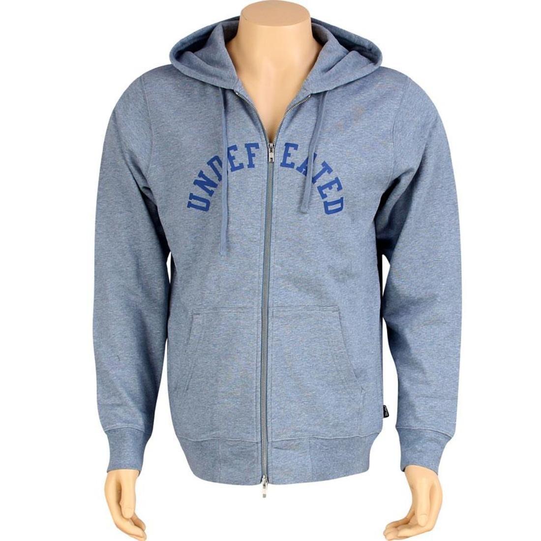 【海外限定】フーディー パーカー メンズファッション 【 UNDEFEATED ZIP UP HOODY II BLUE 】