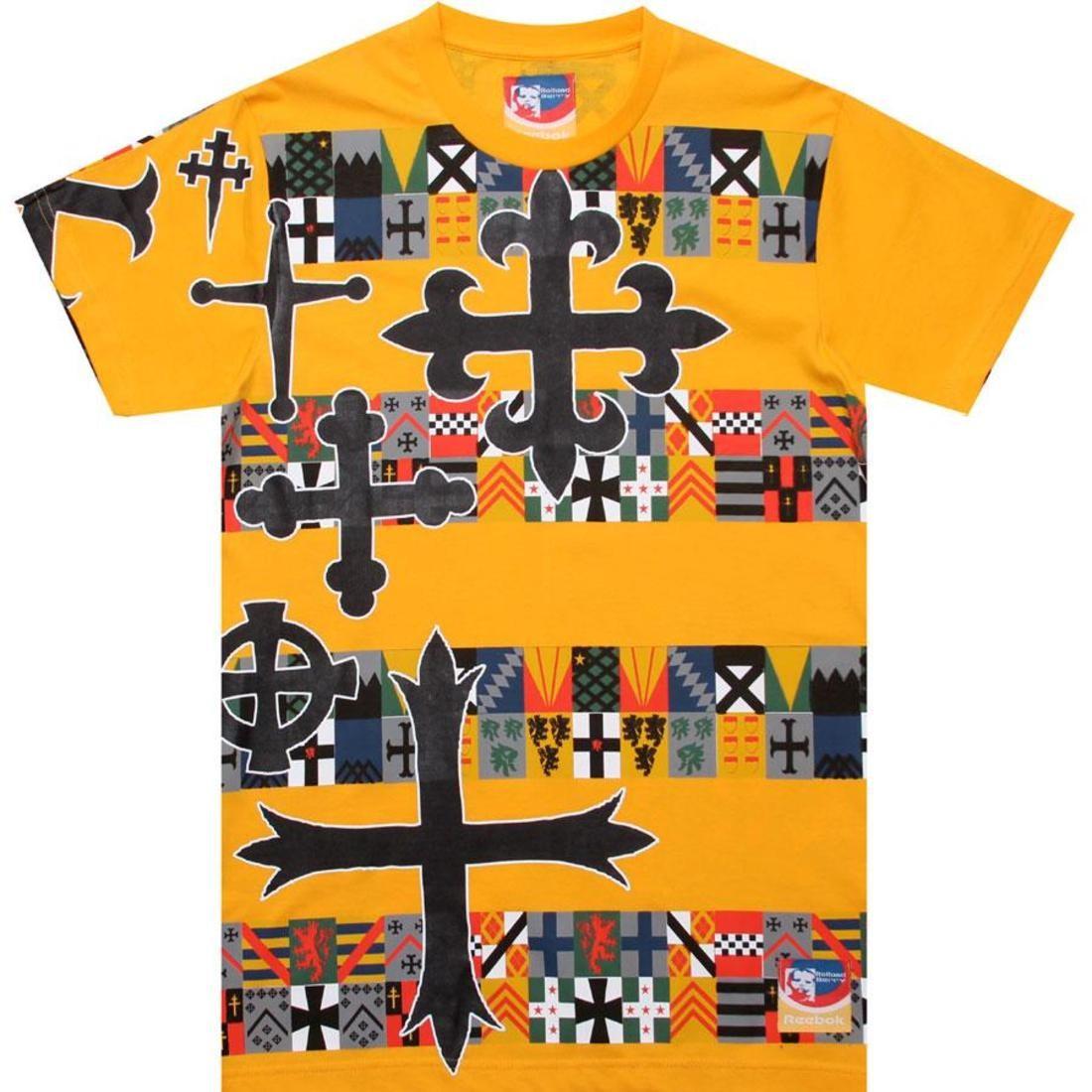 リーボック REEBOK リーボック グラフィック Tシャツ 橙 オレンジ 【 REEBOK ORANGE X ROLLAND BERRY LONDON CROSS GRAPHIC TEE 】 メンズファッション トップス Tシャツ カットソー