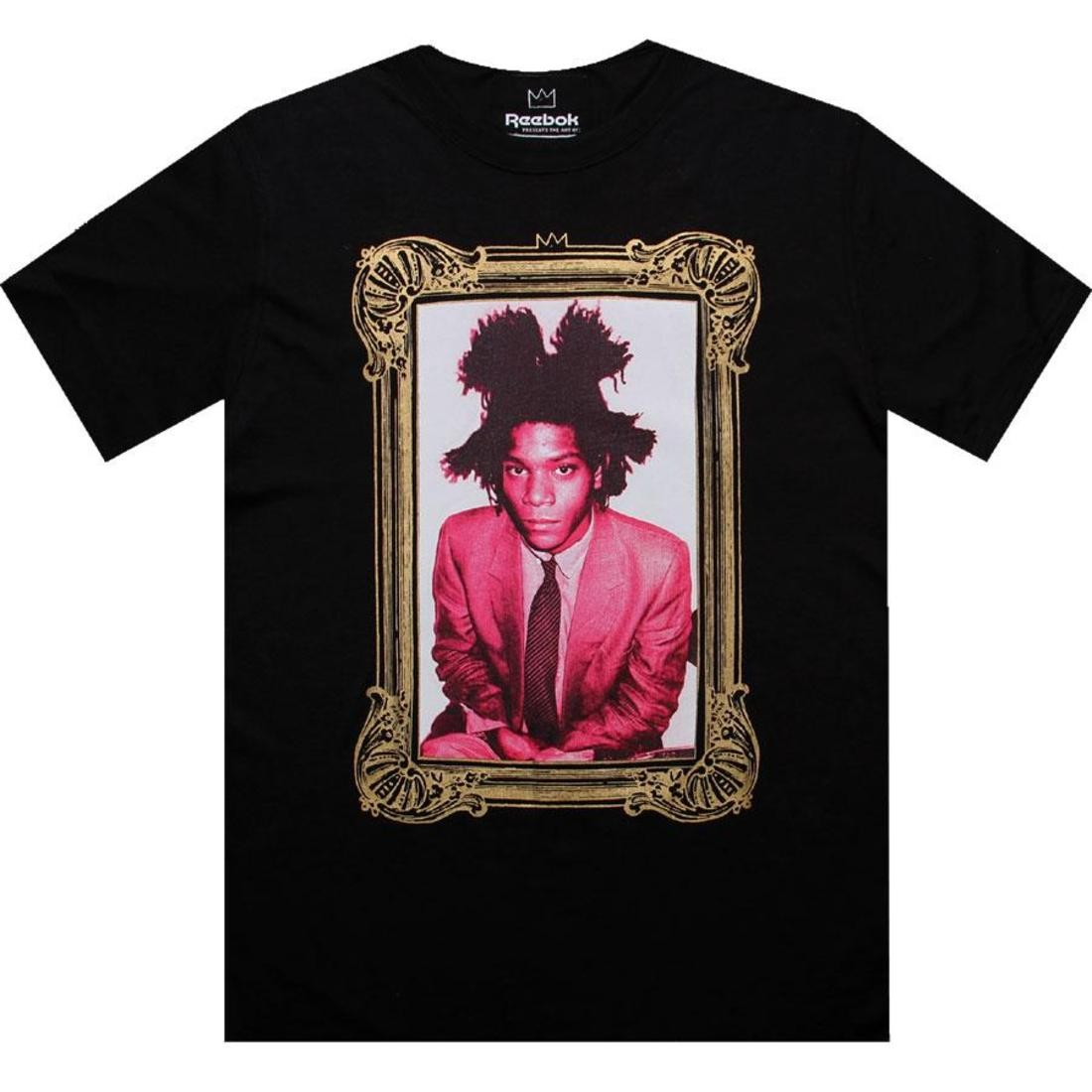 【海外限定】リーボック Tシャツ メンズファッション カットソー 【 REEBOK BASQUIAT I AM TEE BLACK 】