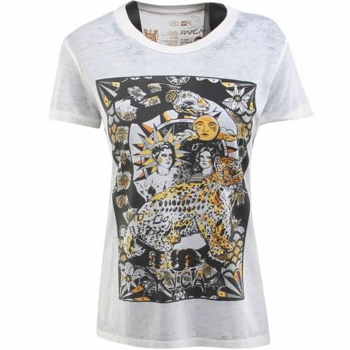 ファッションブランド カジュアル ファッション 受賞店 公式通販 トップス 半袖 ルーカ RVCA Tシャツ ビンテージ ヴィンテージ WOMEN ホワイト COVER TEE WHITE CHEETAH カットソー 白色 VINTAGE レディースファッション