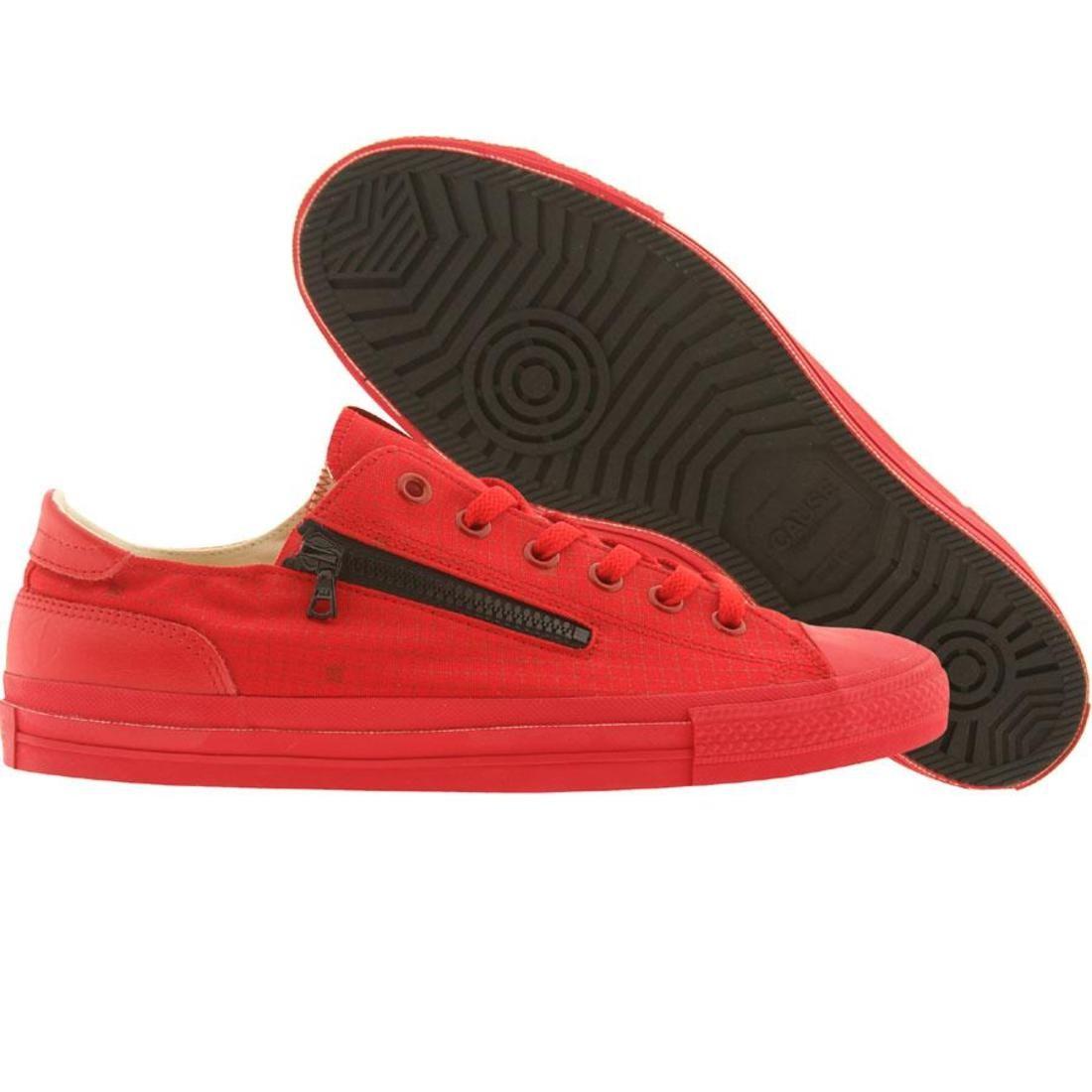 【海外限定】靴 メンズ靴 【 CAUSE SIDE ZIP LOW RED BLACK 】
