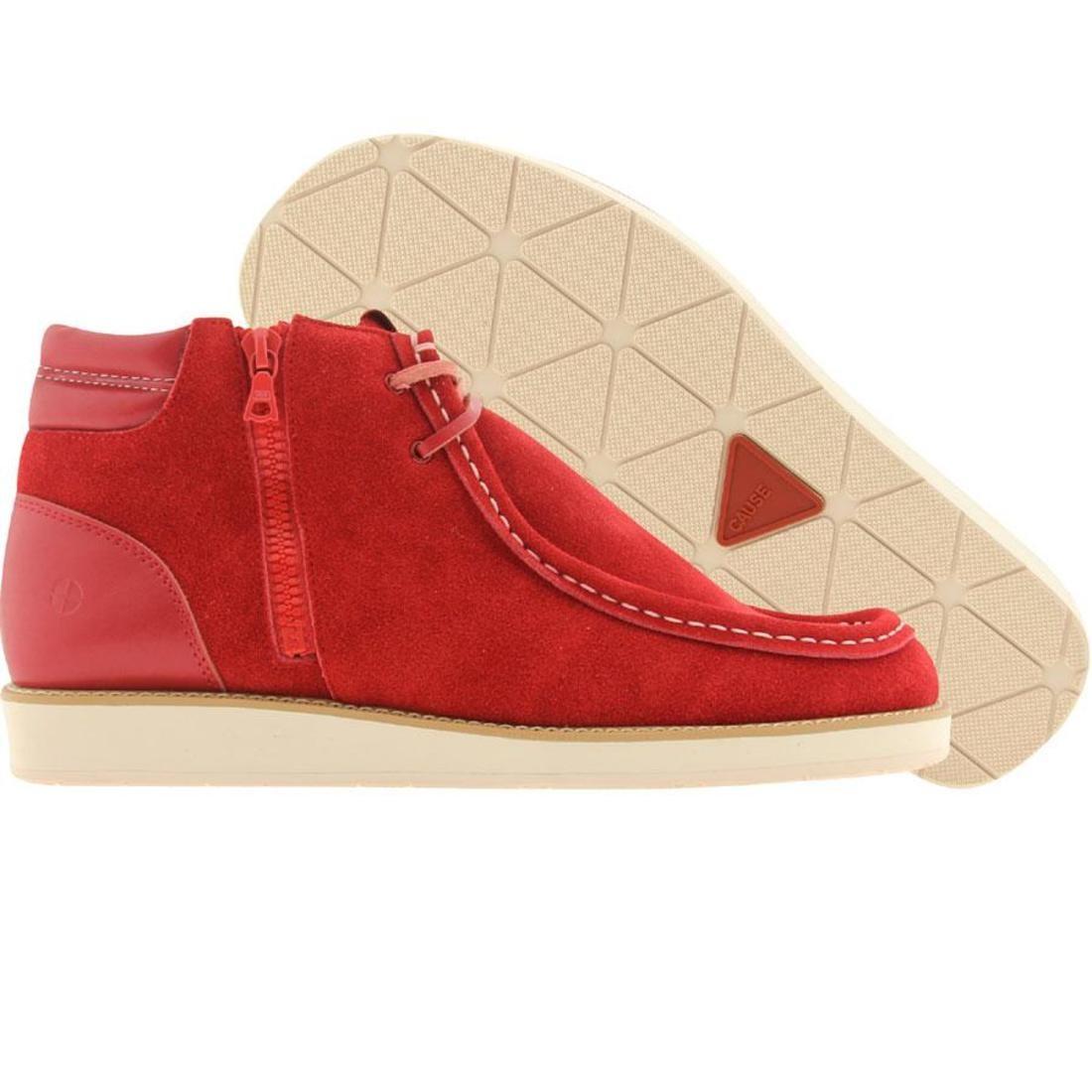 【海外限定】メンズ靴 スニーカー 【 CAUSE SIDE ZIP WALLABY RED 】