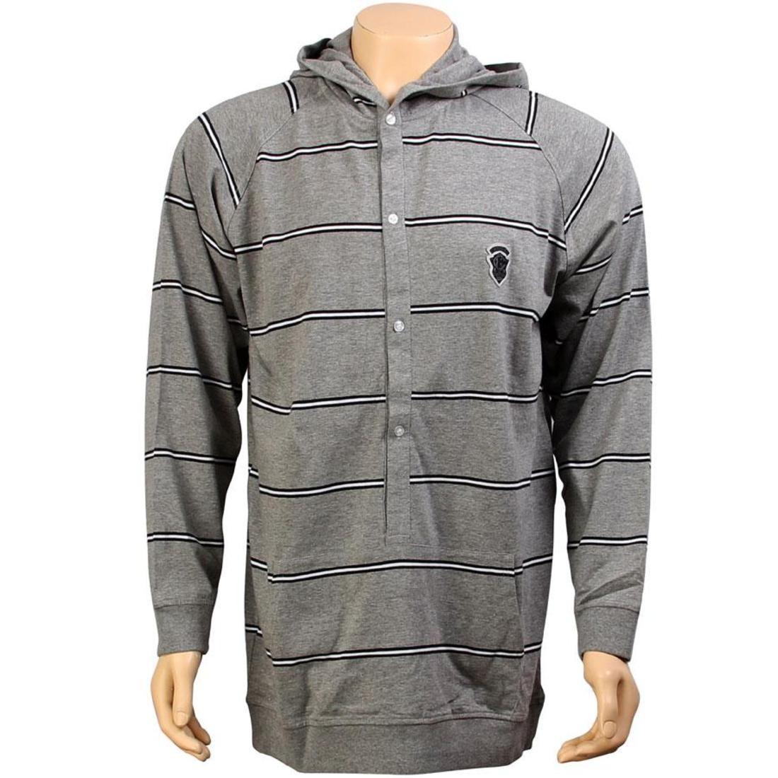 ストライプ メンズファッション トップス Tシャツ カットソー メンズ 【 Crooks And Castles Stripe Hooded Sweater (heather Grey) 】 Heather Grey