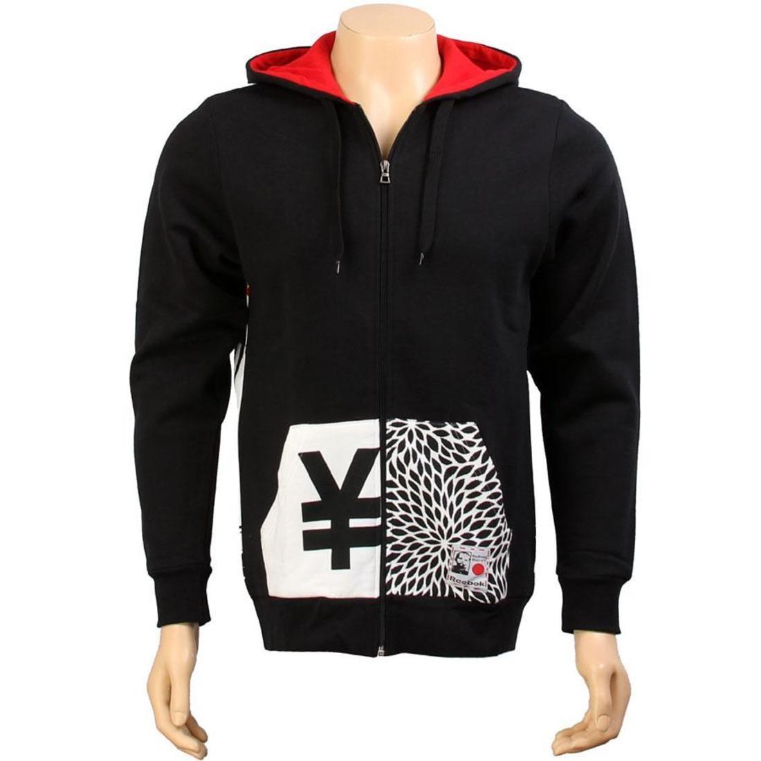 【海外限定】リーボック フーディー パーカー メンズファッション トップス 【 REEBOK X ROLLAND BERRY TOKYO ZIP UP HOODY BLACK 】