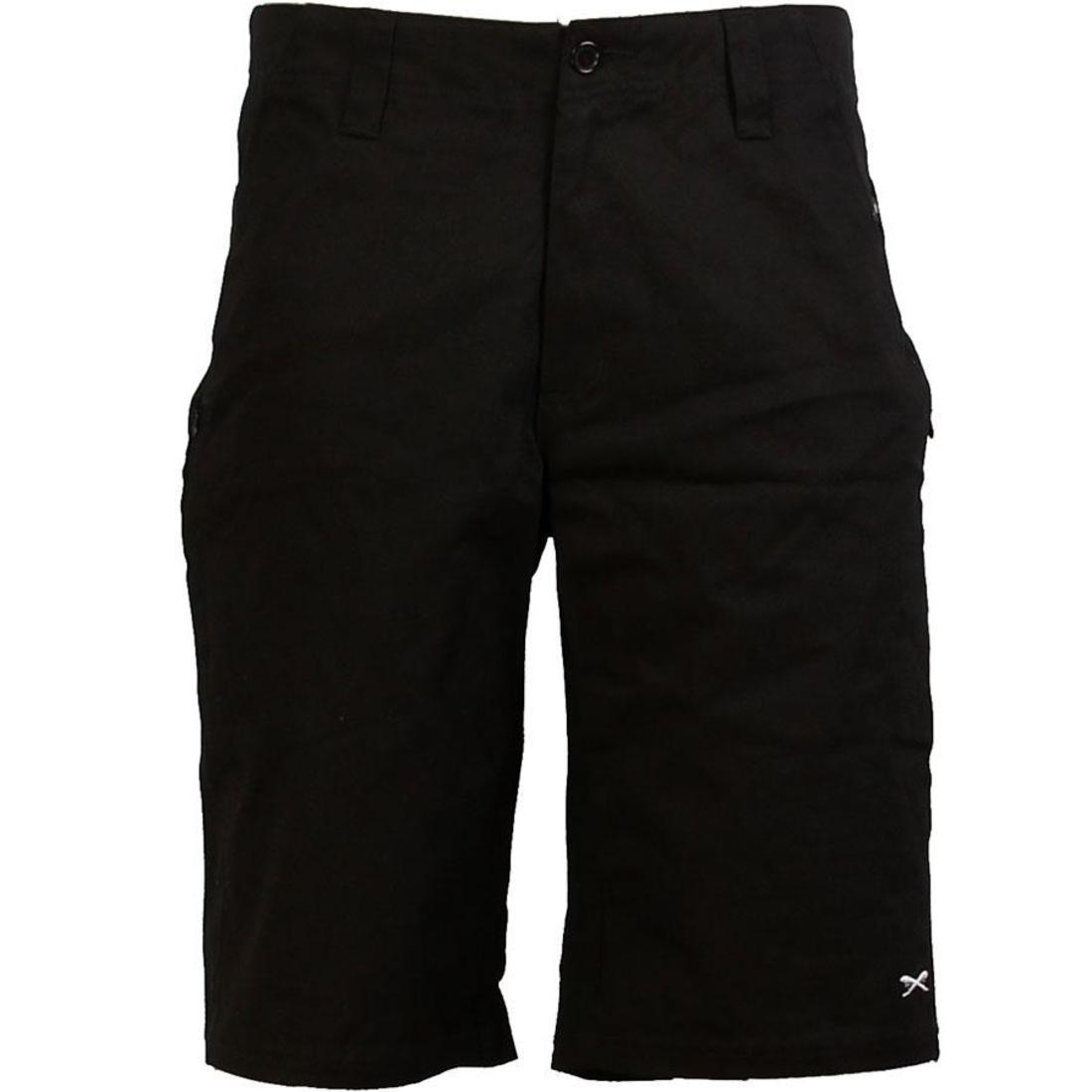 ショーツ ハーフパンツ 黒 ブラック 【 BLACK TRIUMVIR SWORDS SHORTS 】 メンズファッション ズボン パンツ
