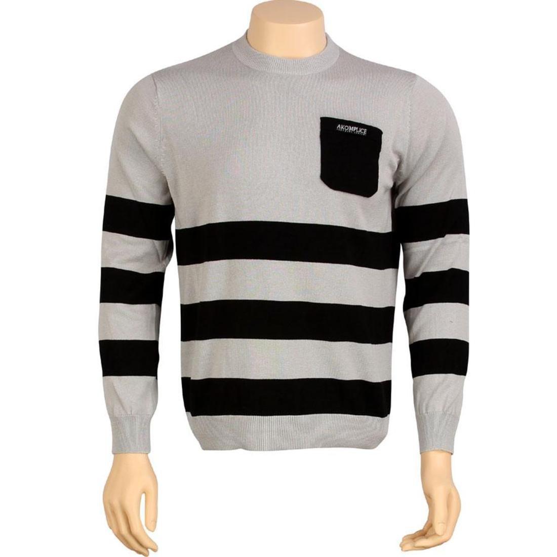 メンズファッション トップス Tシャツ カットソー メンズ 【 Akomplice Vsop Jumper Sweater (grey / Black) 】 Grey / Black