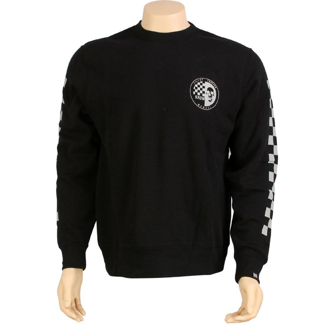 【海外限定】フリース SKRAW トップス BLACK メンズファッション【 KR3W【 SKRAW CREWNECK FLEECE BLACK】, ジュエリー&ハンドバッグの居東屋:6df15cce --- officewill.xsrv.jp