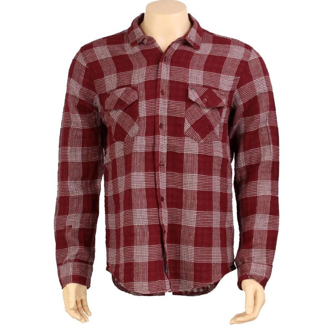 【海外限定】スリーブ カジュアルシャツ メンズファッション 【 SLEEVE KR3W HARDEE LONG SHIRT BURGUNDY 】