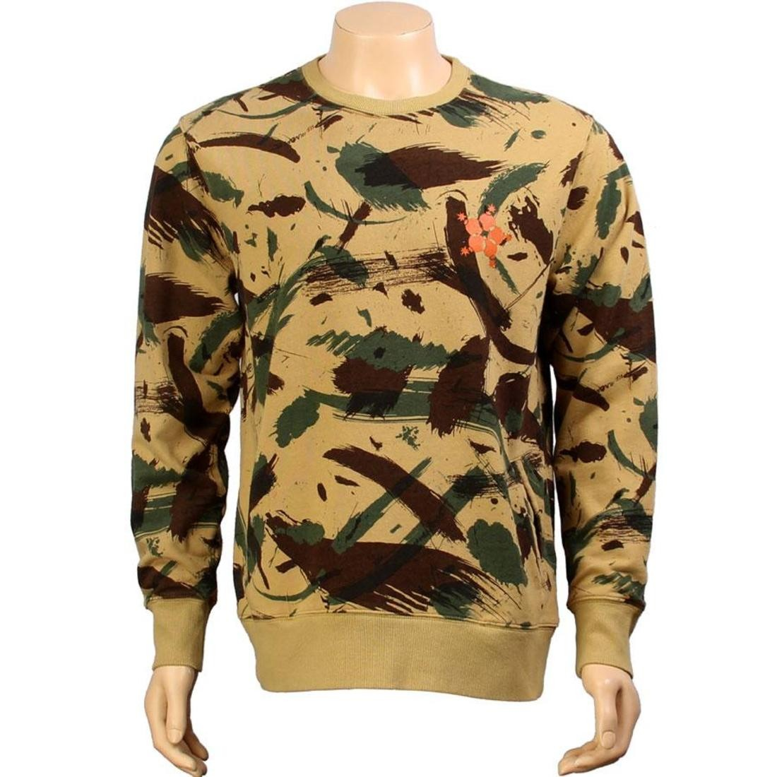 メンズファッション トップス Tシャツ カットソー メンズ 【 The Hundreds Mammoth Crewneck (camo) 】 Camo