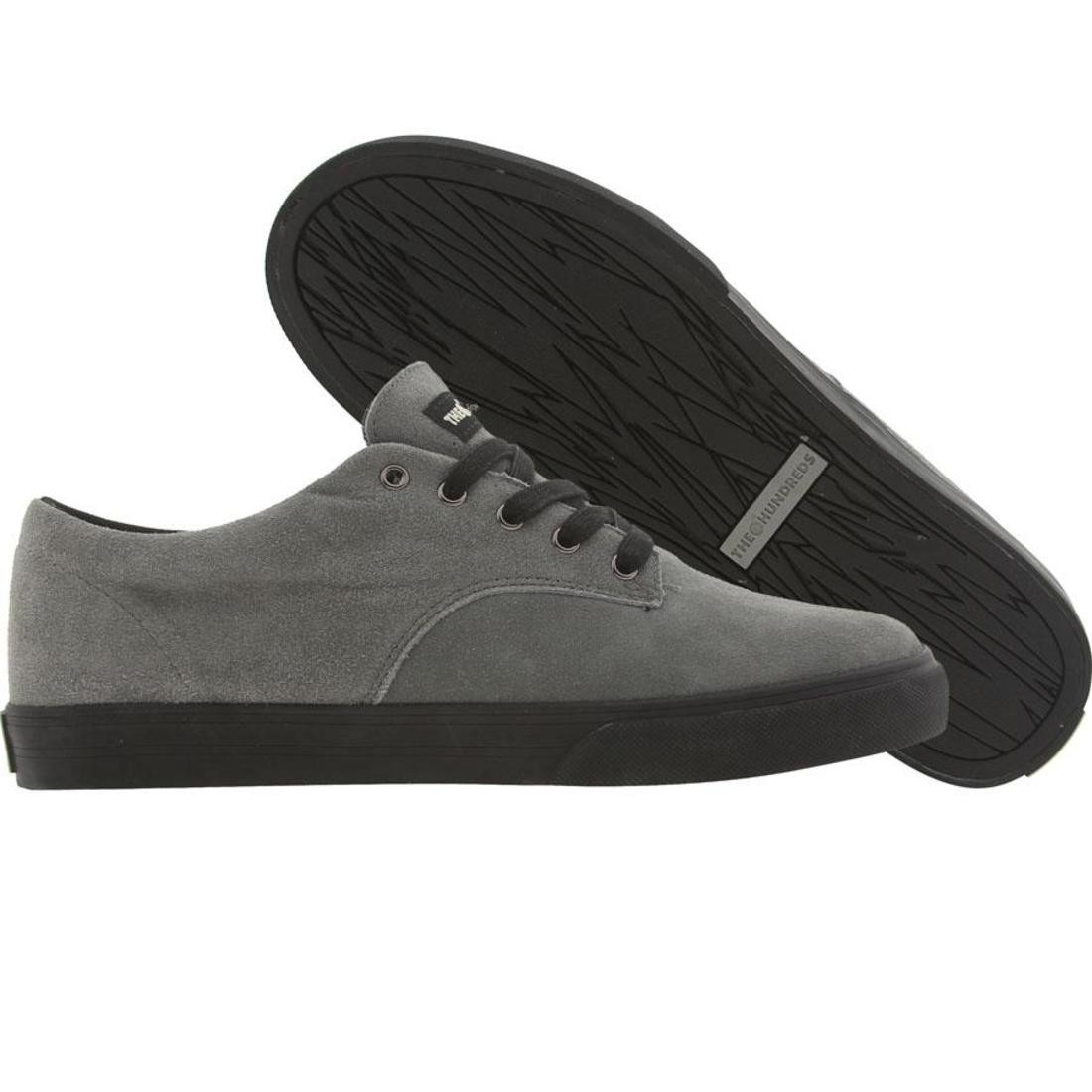 ジョンソン 黒 ブラック スニーカー メンズ 【 The Hundreds Johnson Low - Black Tape Pack (charcoal) 】 Charcoal
