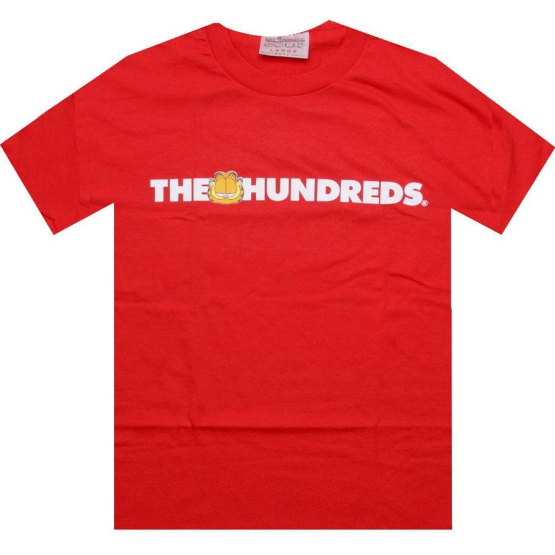 【海外限定】ロゴ Tシャツ トップス 【 THE HUNDREDS X GARFIELD BAR LOGO TEE RED 】