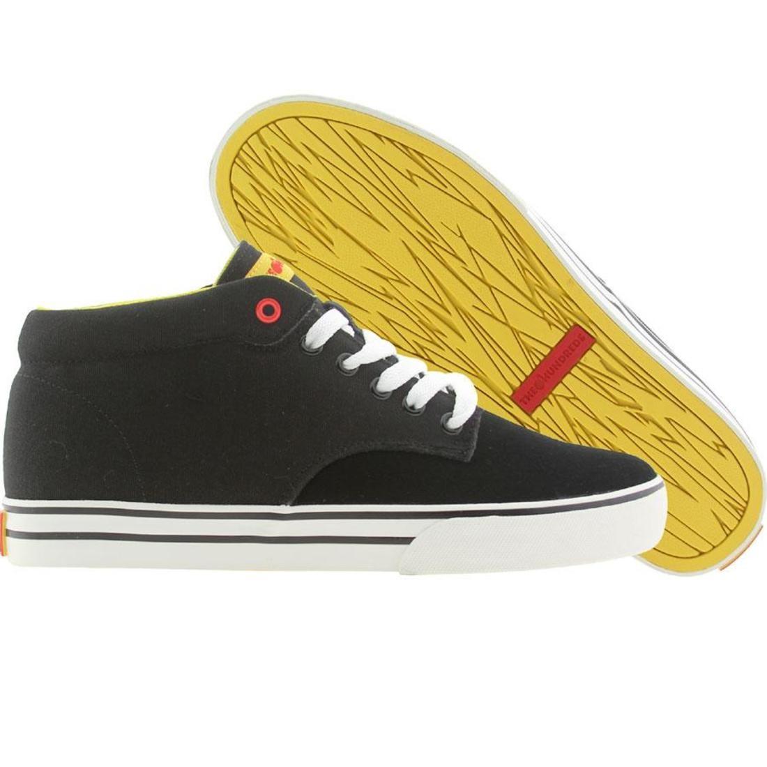 【海外限定】ジョンソン ミッド スニーカー メンズ靴 【 THE HUNDREDS MEN JOHNSON MID BLACK SUEDE 】
