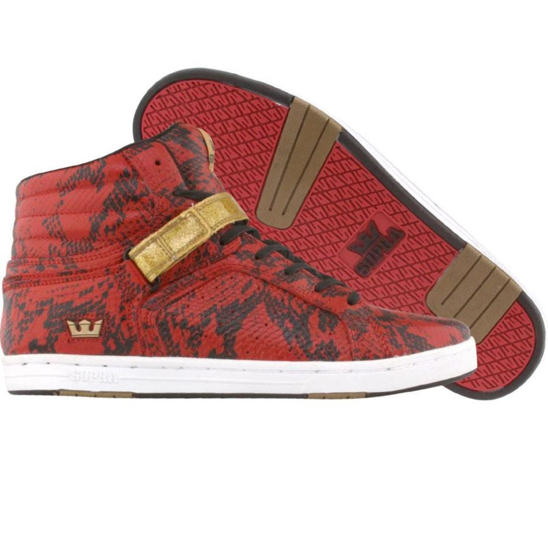 SUPRA ハイ スニーカー メンズ 【 No High (red Snake / Gold) 】 Red Snake / Gold