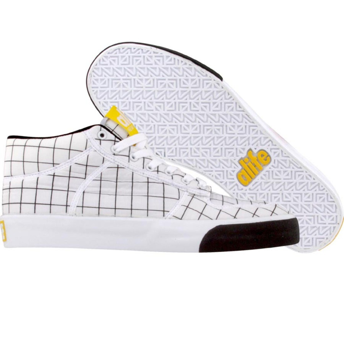 【海外限定】エーライフ ミッド ナイロン メンズ靴 スニーカー 【 ALIFE EVERYBODY MID PARACHUTE NYLON WHITE 】