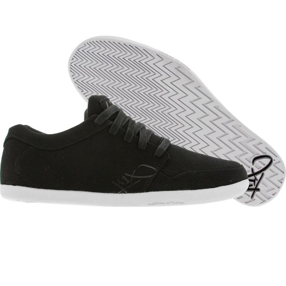 【海外限定】白 ホワイト メンズ靴 スニーカー 【 WHITE K1X IP LOW BLACK CANVAS 】