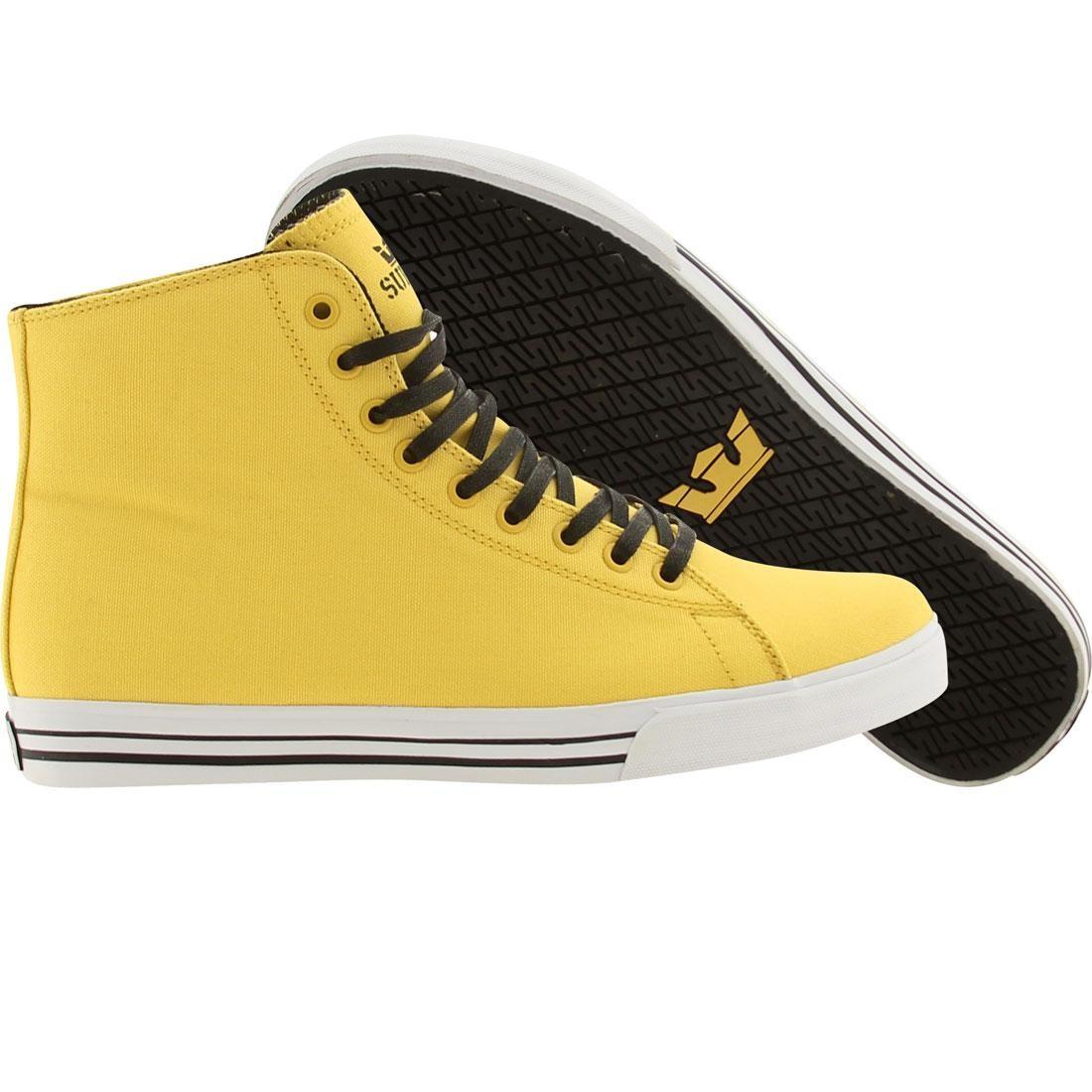 SUPRA サンダー ハイトップ スニーカー メンズ 【 Thunder Hightop (yellow Canvas) 】 Yellow Canvas