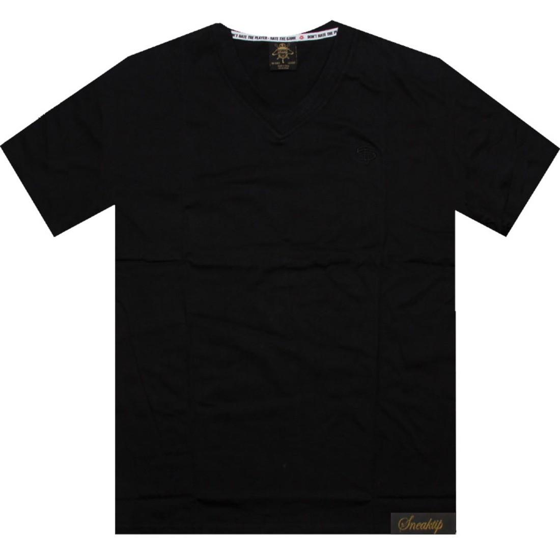 【海外限定】スニークティップ ロゴ ブイネック Tシャツ カットソー メンズファッション 【 SNEAKTIP LOGO VNECK TEE BLACK 】