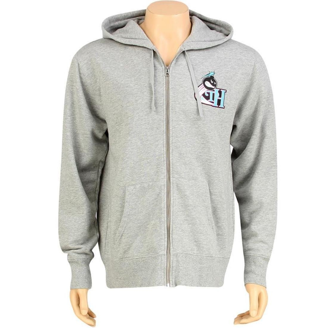 【海外限定】フーディー パーカー トップス 【 THE HUNDREDS PLAYOFFS ZIP UP HOODY ATHLETIC HEATHER 】