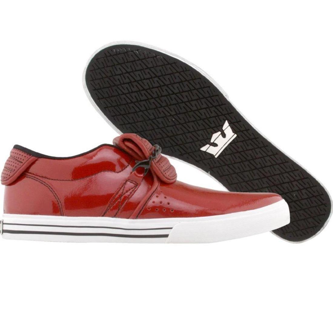 【海外限定】スープラ キューバン パテント 赤 レッド メンズ靴 スニーカー 【 SUPRA RED CUBAN NS PATENT PERF 】