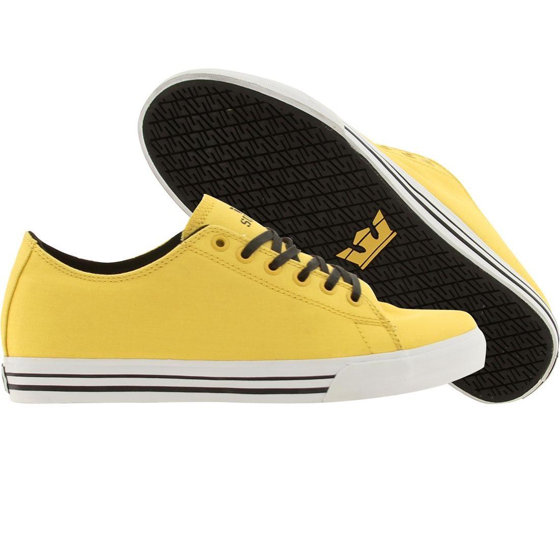 【海外限定】スープラ サンダー メンズ靴 スニーカー 【 SUPRA THUNDER LOW YELLOW CANVAS 】