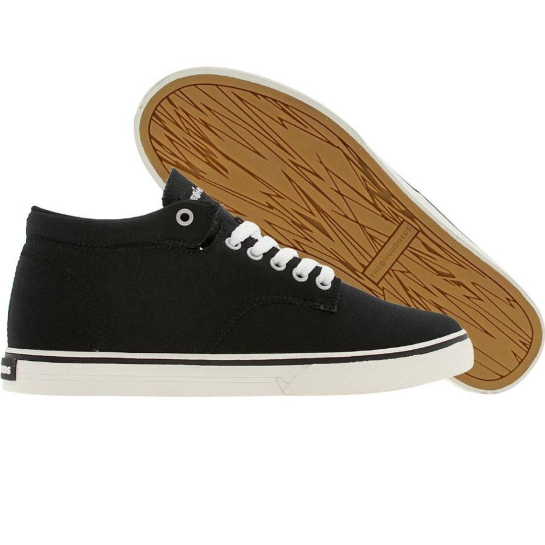 【海外限定】ジョンソン ミッド 靴 スニーカー 【 THE HUNDREDS JOHNSON MID TOP CANVAS BLACK 】