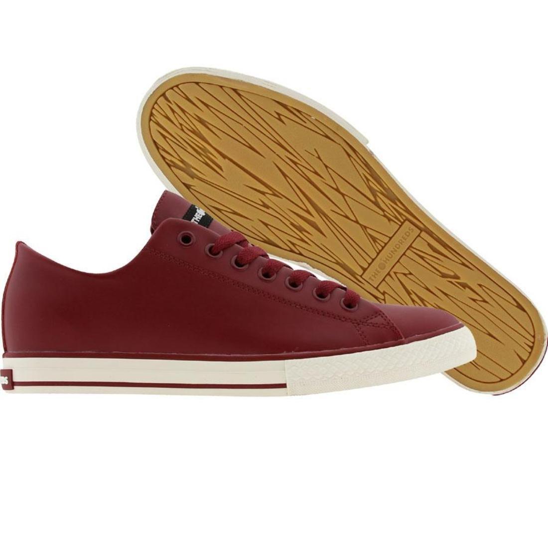 【海外限定】靴 スニーカー 【 THE HUNDREDS VALENZUELA LOW TOP BURGUNDY 】