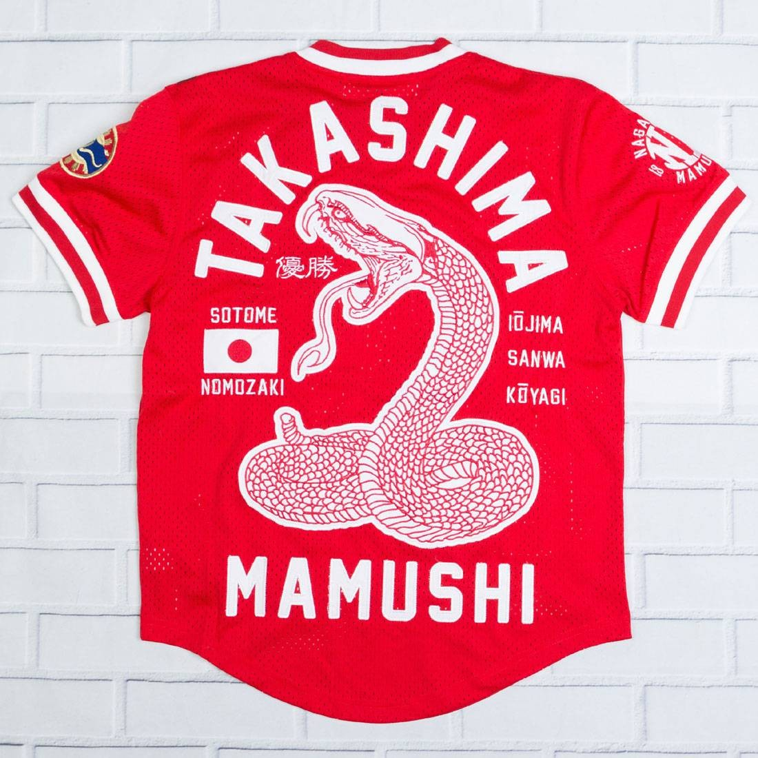 ジャージ 【 IRO OCHI MEN NAGASAKI MAMUSHI AWAY JERSEY RED 】 メンズファッション トップス Tシャツ カットソー 送料無料