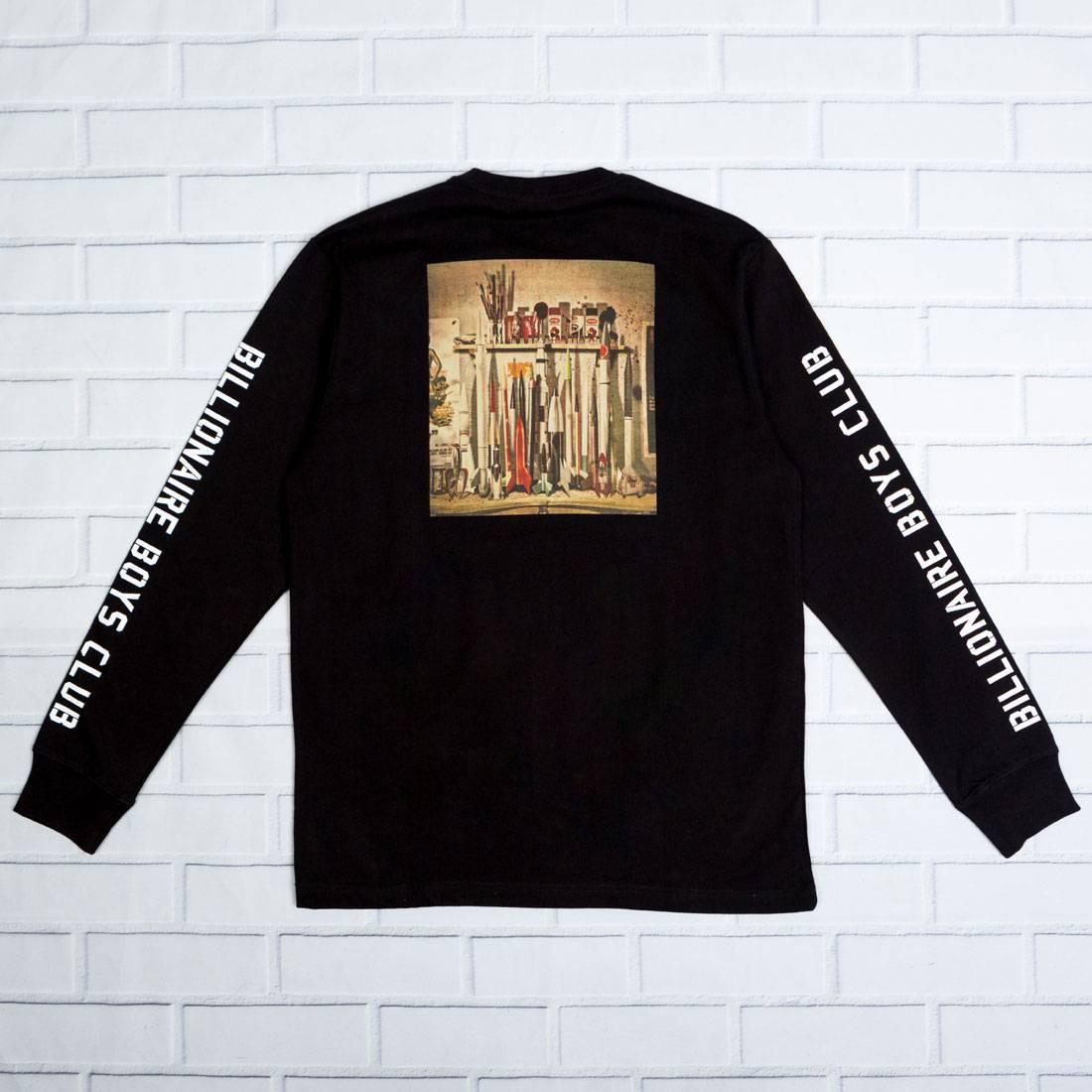 ビリオネアボーイズクラブ BILLIONAIRE BOYS CLUB クラブ スリーブ Tシャツ 黒 ブラック 【 SLEEVE BLACK BILLIONAIRE BOYS CLUB MEN SPACE PROGRAM LONG TEE 】 メンズファッション トップス Tシャツ カットソー