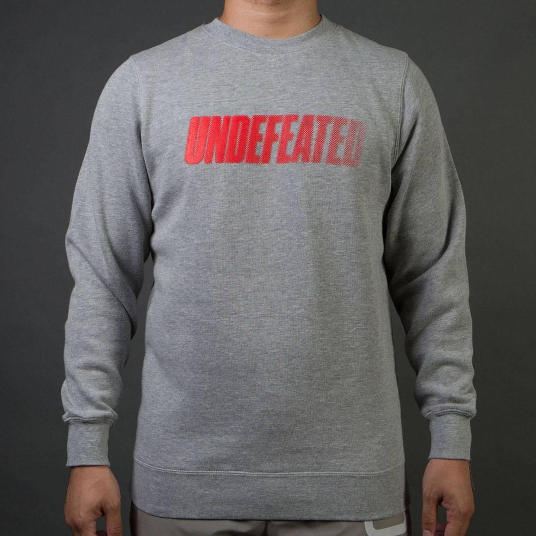 UNDEFEATED スピード メンズファッション トップス Tシャツ カットソー メンズ 【 Men Speed Tone Crew Sweater (gray / Heather) 】 Gray / Heather