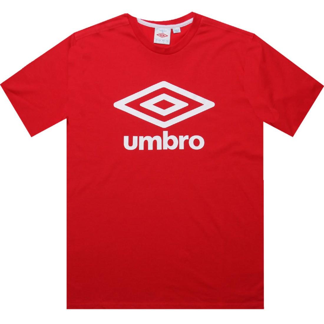 アンブロ UMBRO ロゴ Tシャツ 赤 レッド 【 RED UMBRO FETTES LOGO TEE VERMILLION 】 メンズファッション トップス Tシャツ カットソー