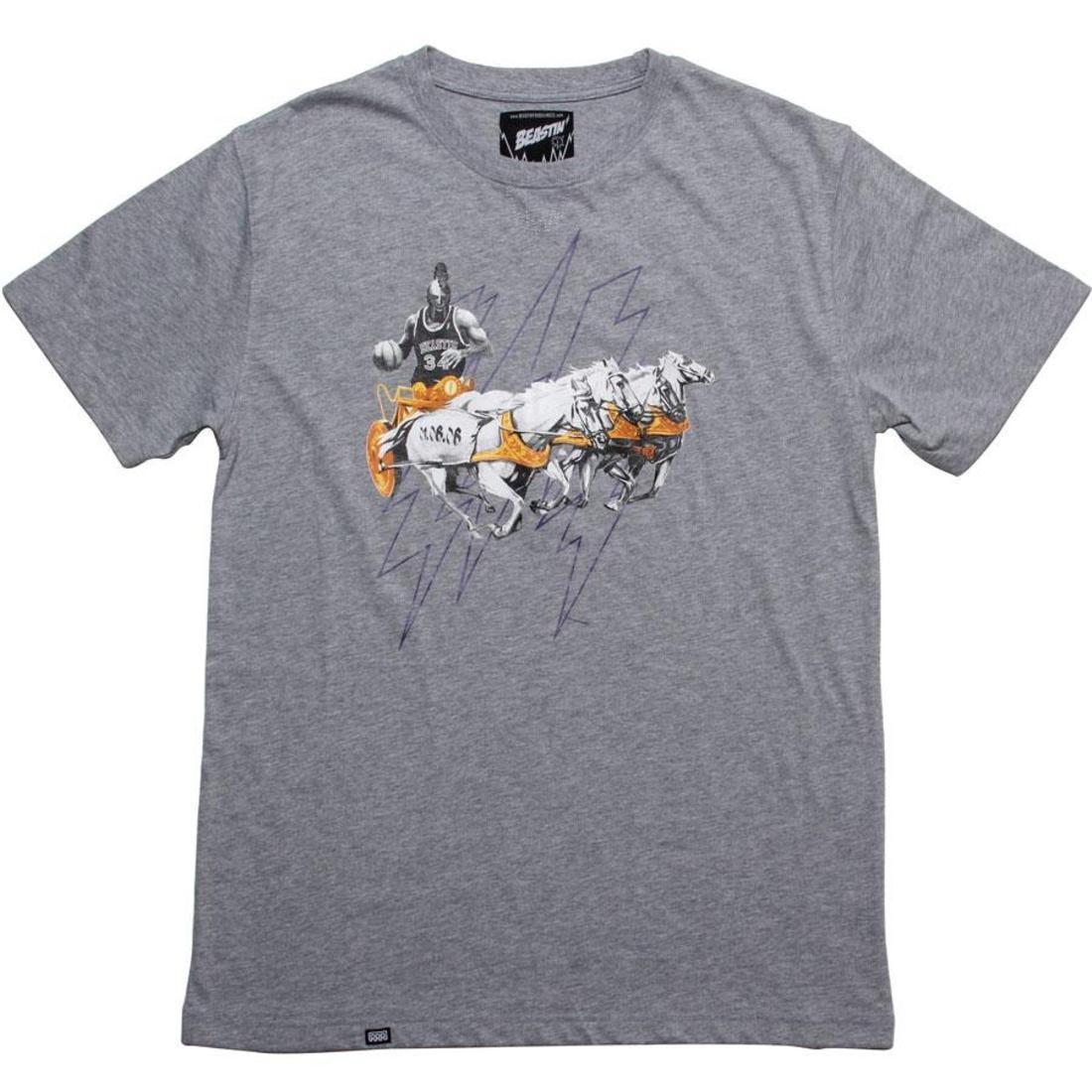 【海外限定】Tシャツ メンズファッション 【 BEASTIN SEEK AND DESTROY TEE GREY 】