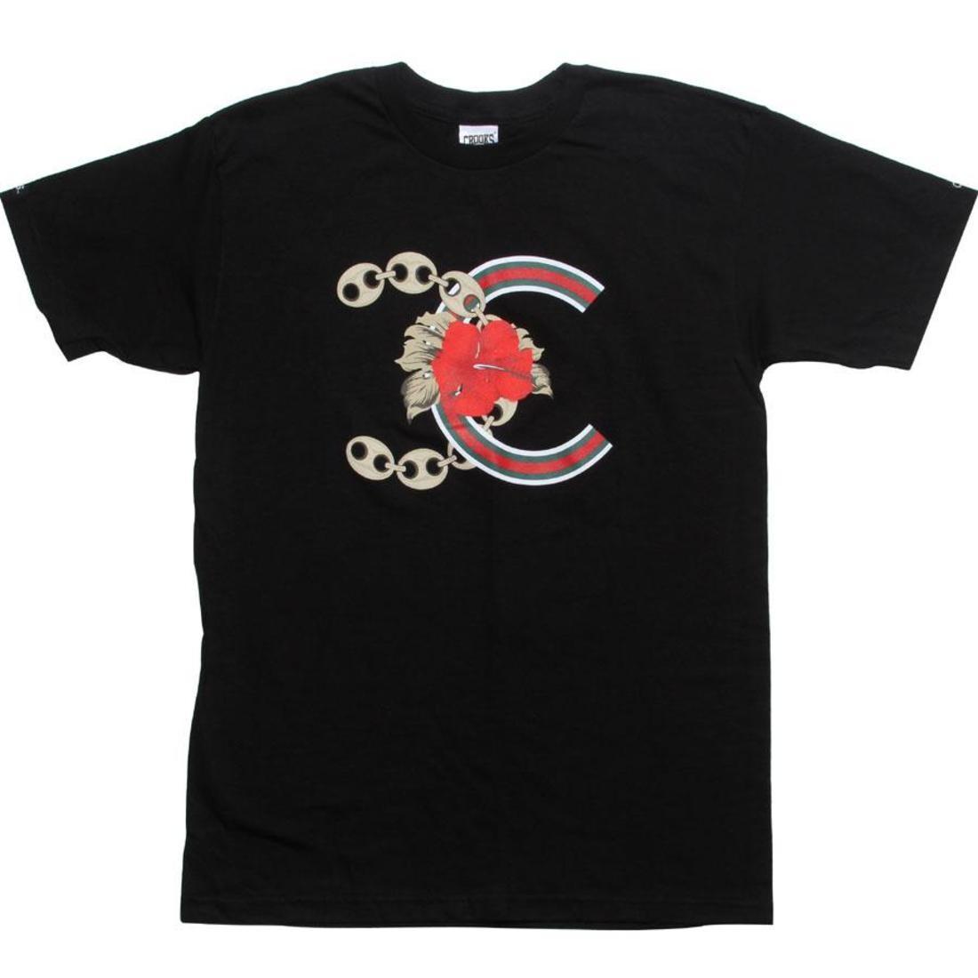 【海外限定】Tシャツ カットソー トップス 【 CROOKS AND CASTLES ALOHA FRIDAY TEE BLACK 】
