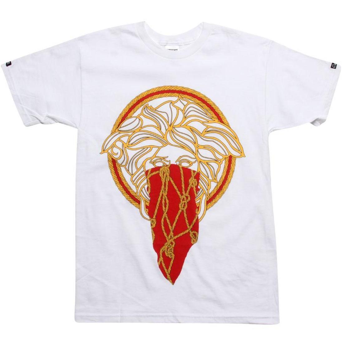 【海外限定】Tシャツ トップス メンズファッション 【 CROOKS AND CASTLES GORGON TEE WHITE GOLD RED 】