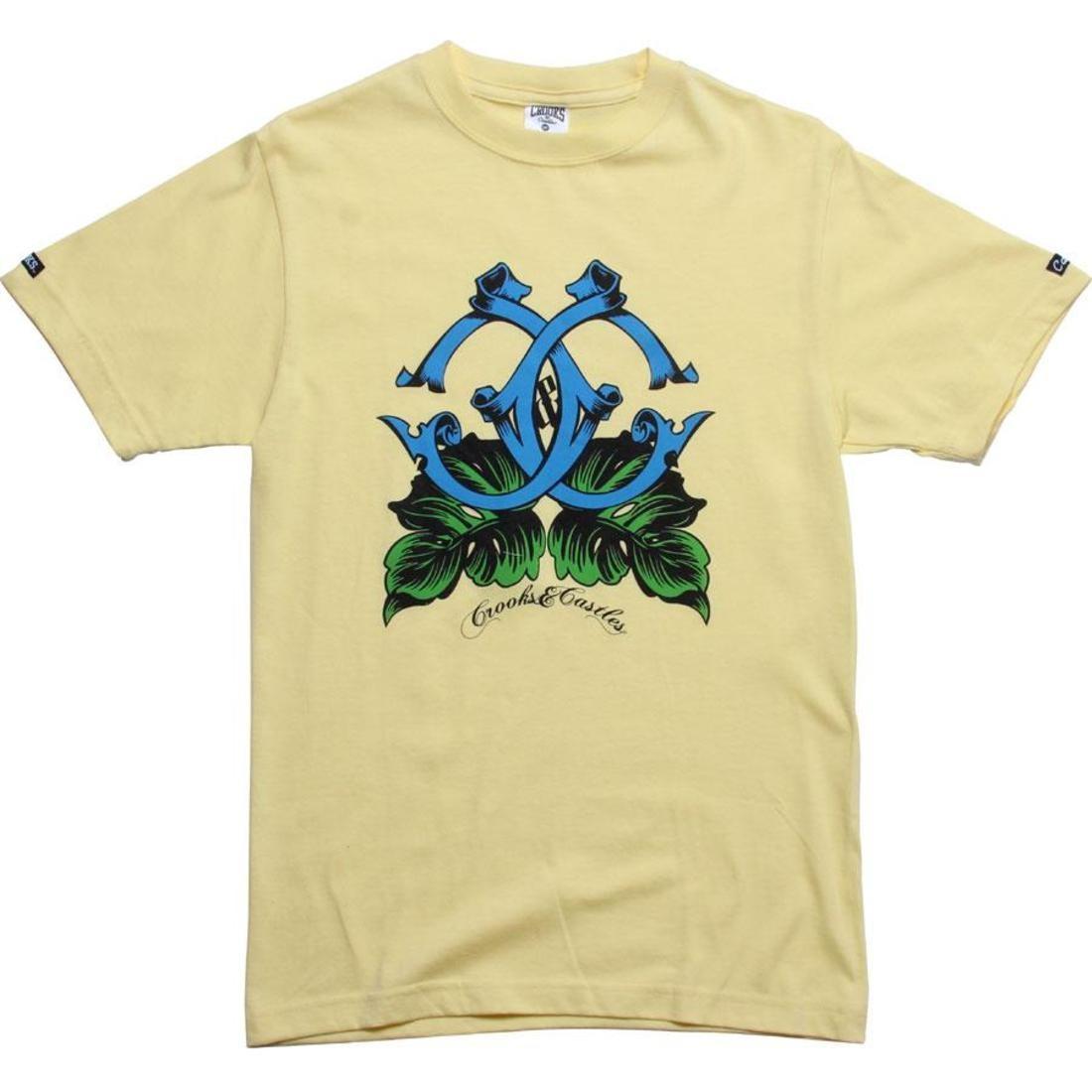 Tシャツ 【 CROOKS AND CASTLES ISLAND CS TEE CANARY 】 メンズファッション トップス Tシャツ カットソー