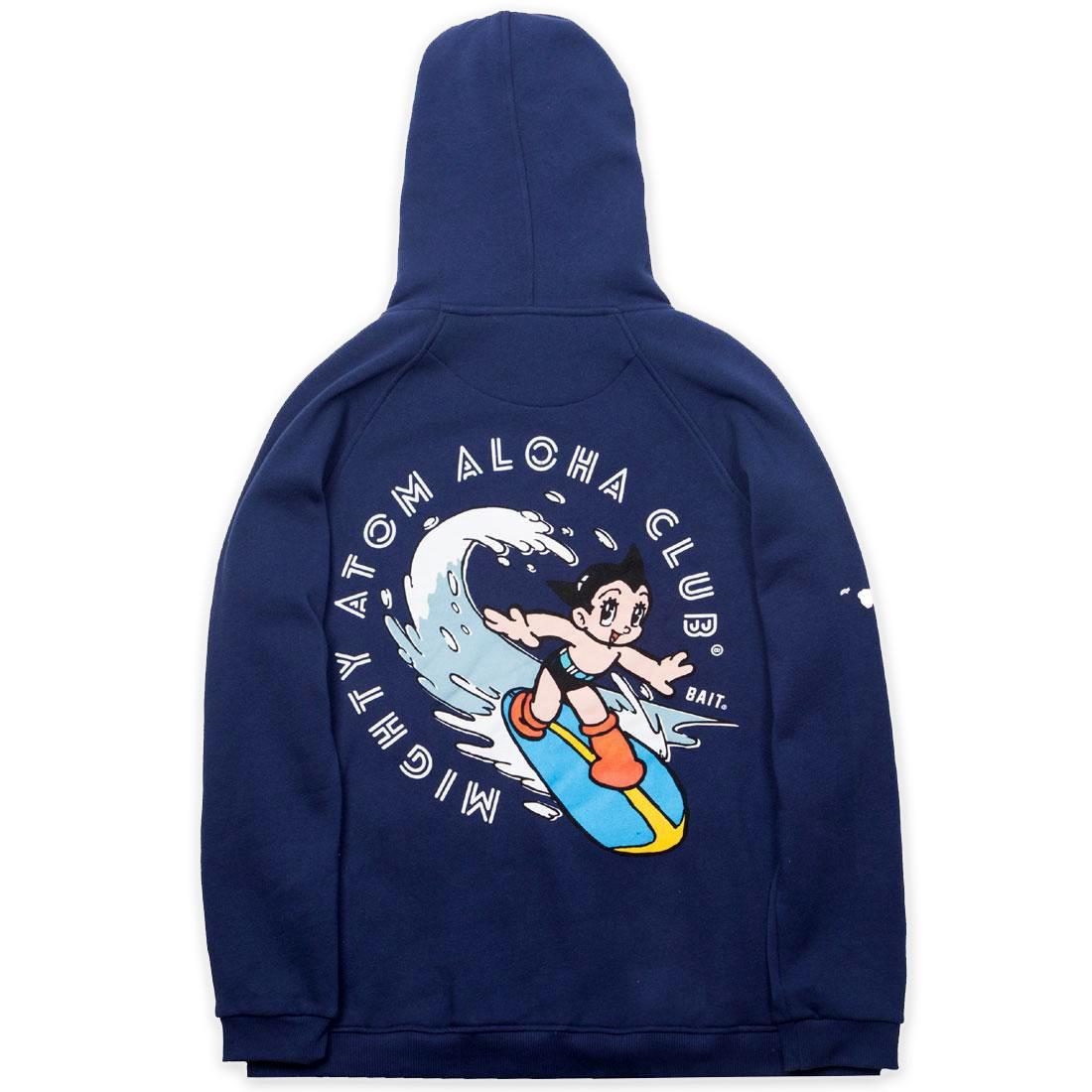 【海外限定】フーディー パーカー メンズファッション 【 BAIT X ASTRO BOY MEN ALOHA SURF ZIP HOODY NAVY 】